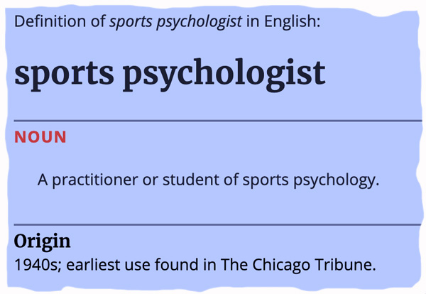 Is The Correct Spelling 'Sports Psychologist' or 'Sport Psychologist'?