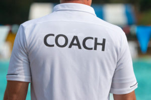 Picture of a sporting coach from the back